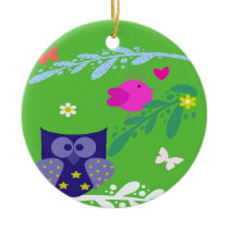 In the forest ceramic ornament