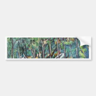 In The Forest Of Fontainebleau By Paul Cézanne Car Bumper Sticker