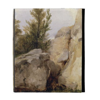 In the Forest of Fontainebleau c 1825 oil on can iPad Folio Cases