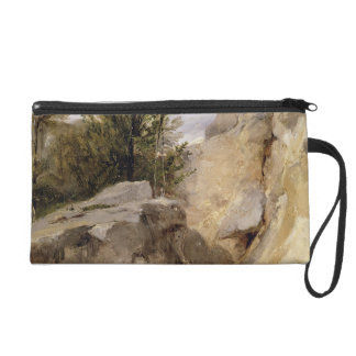 In the Forest of Fontainebleau, c.1825 (oil on can Wristlet Purse