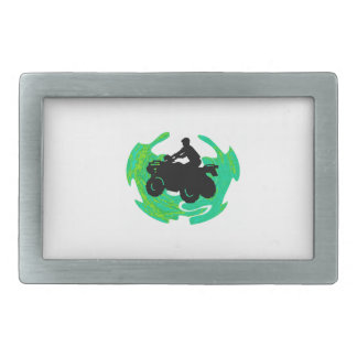 IN THE FOREST RECTANGULAR BELT BUCKLE