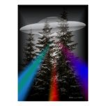 IN THE FOREST - UFO POSTER