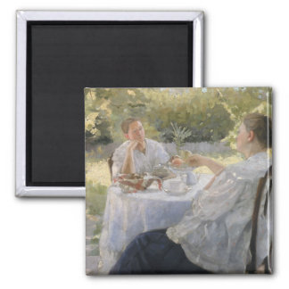 In the Garden, 1911 2 Inch Square Magnet