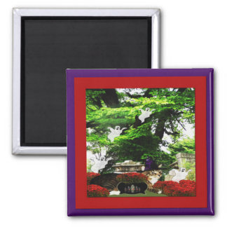 In The Garden 2 Inch Square Magnet