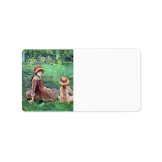 In the garden at Maurecourt by Berthe Morisot Personalized Address Label