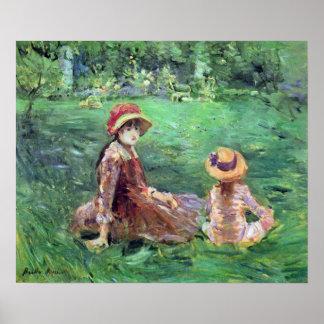 In the garden at Maurecourt by Berthe Morisot Print