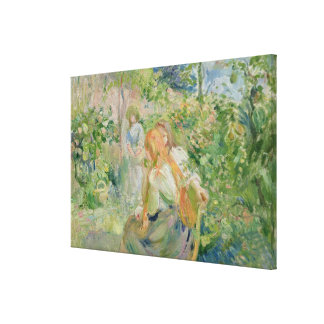 In the Garden at Roche-Plate, 1894 Canvas Print