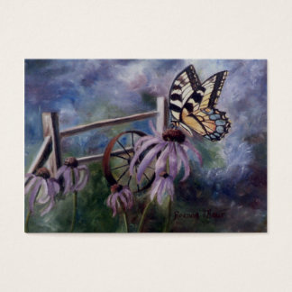 In The Garden Butterfly Art Card
