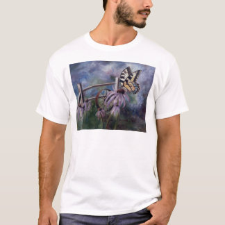 In The Garden Butterfy Adult Tshirt