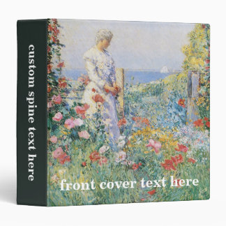 In the Garden by Childe Hassam, Vintage Fine Art 3 Ring Binder
