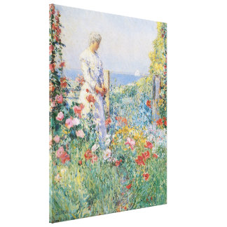 In the Garden by Childe Hassam, Vintage Fine Art Canvas Print