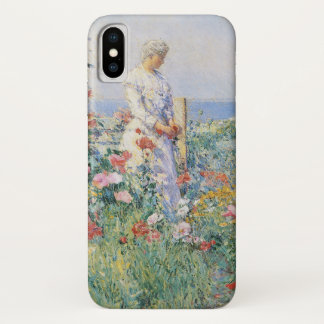 In the Garden by Childe Hassam, Vintage Fine Art iPhone X Case