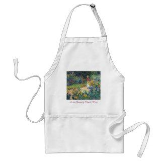 In the Garden by Claude Monet Apron