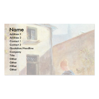 In The Garden By Spitzweg Carl Business Cards