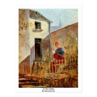 In The Garden By Spitzweg Carl Postcard