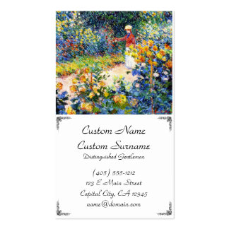 In the Garden Claude Monet woman painting Double-Sided Standard Business Cards (Pack Of 100)