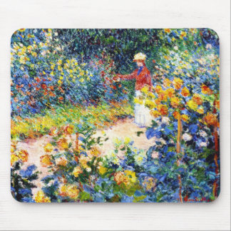 In the Garden Claude Monet woman painting Mouse Pad