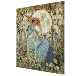 In the Garden, Giverny by Frederick Frieseke Canvas Print