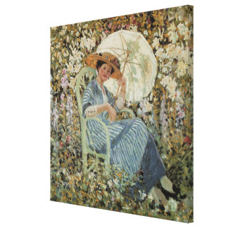 In the Garden, Giverny by Frederick Frieseke Canvas Prints