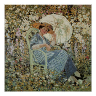 In the Garden, Giverny by Frederick Frieseke Poster