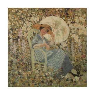 In the Garden, Giverny by Frederick Frieseke Wood Wall Decor