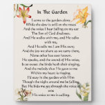 In The Garden Hymn Floral Plaque
