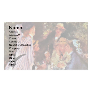 In The Garden (In The Bower Of Moulin De La Galett Business Card Template