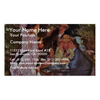 In The Garden (In The Bower Of Moulin De La Galett Business Cards