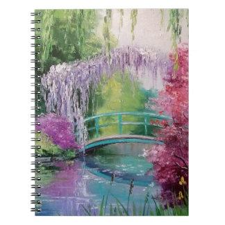 in the garden of Monet Notebook