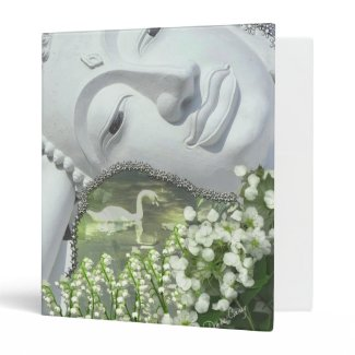 In the Garden - Quan Yin & Flowers Binder