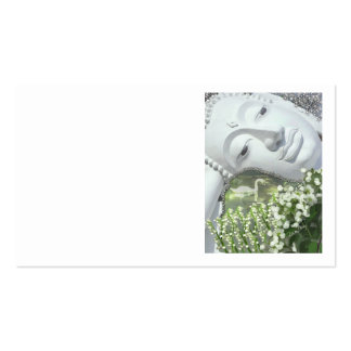 In the Garden - Quan Yin & Flowers Double-Sided Standard Business Cards (Pack Of 100)