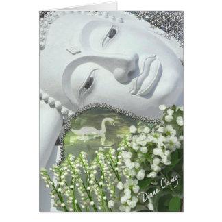 In the Garden - Quan Yin & Flowers Card