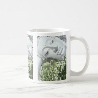 In the Garden - Quan Yin & Flowers Coffee Mug