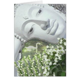 In the Garden - Quan Yin & Flowers Greeting Card