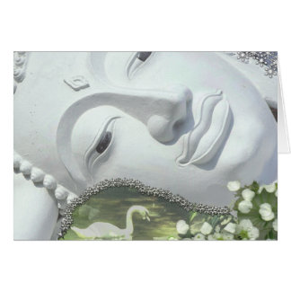 In the Garden - Quan Yin & Flowers Greeting Cards