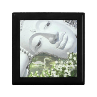 In the Garden - Quan Yin & Flowers Jewelry Box