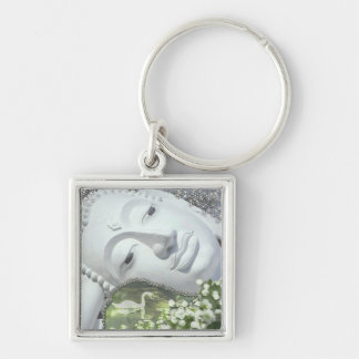 In the Garden - Quan Yin & Flowers Keychain