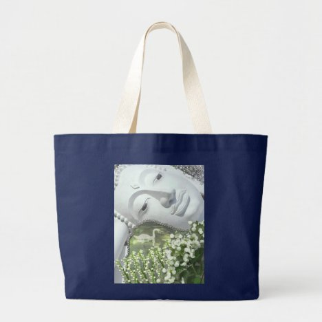In the Garden - Quan Yin & Flowers Large Tote Bag