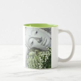 In the Garden - Quan Yin & Flowers Mug