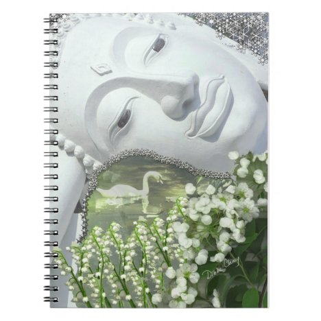 In the Garden - Quan Yin & Flowers Notebook