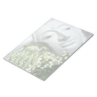 In the Garden - Quan Yin & Flowers Scratch Pad