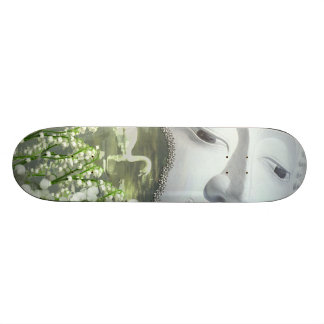 In the Garden - Quan Yin & Flowers Skateboard