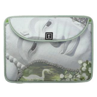 In the Garden - Quan Yin & Flowers Sleeves For MacBook Pro
