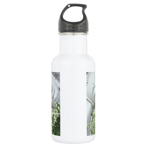 In the Garden - Quan Yin &amp&#x3B; Flowers Stainless Steel Water Bottle