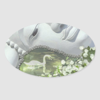 In the Garden - Quan Yin & Flowers Stickers