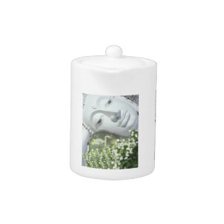 In the Garden - Quan Yin & Flowers Teapot