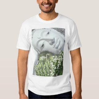 In the Garden - Quan Yin & Flowers Tees
