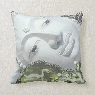 In the Garden - Quan Yin & Flowers Throw Pillow