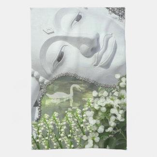 In the Garden - Quan Yin & Flowers Towel