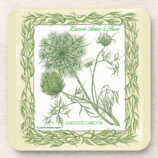 In the Garden ~ Queen Anne's Lace Cork Coaster